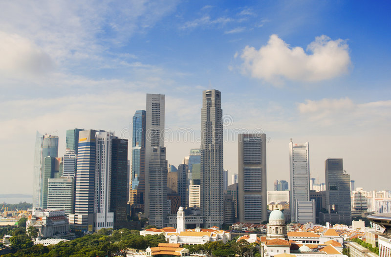 Download Singapore Downtown In The Daytime Royalty Free Stock Photos - Image: 4844678