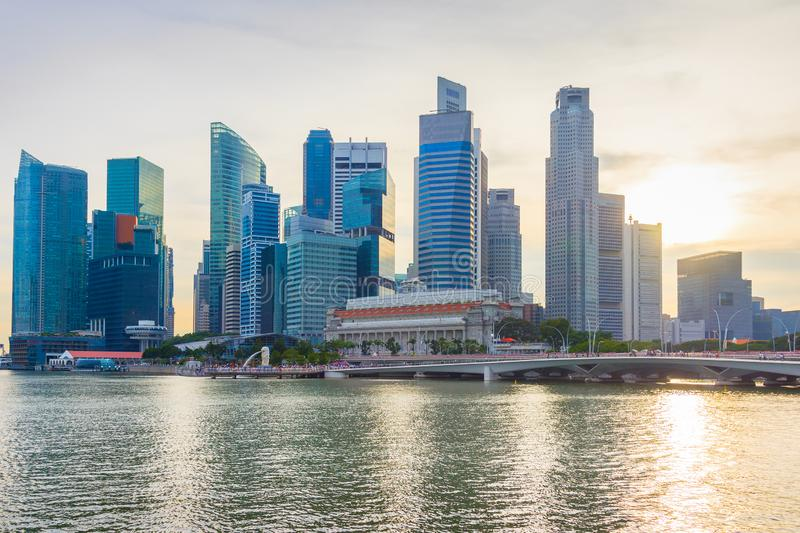 Singapore Downtown financial business skyline royalty free stock photo