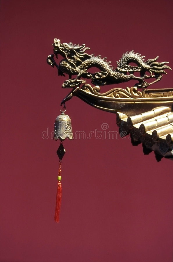 Singapore dragon. Dragon statue in a Singapore Chinese temple stock photos