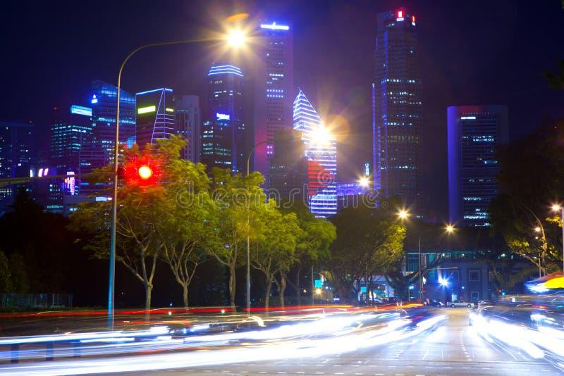 Singapore em a noite fotos de stock