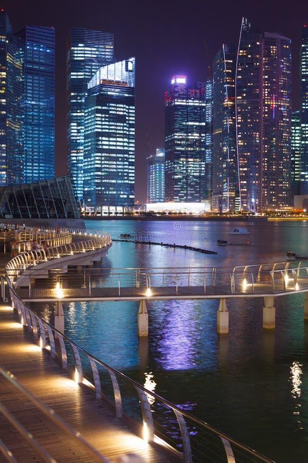 Singapore entro la notte fotografia stock libera da diritti