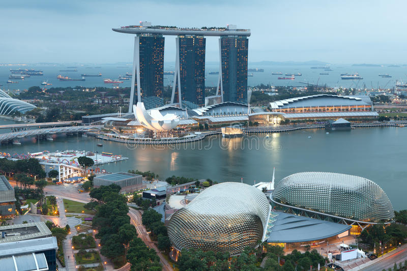 Singapore entro la sera fotografia stock libera da diritti
