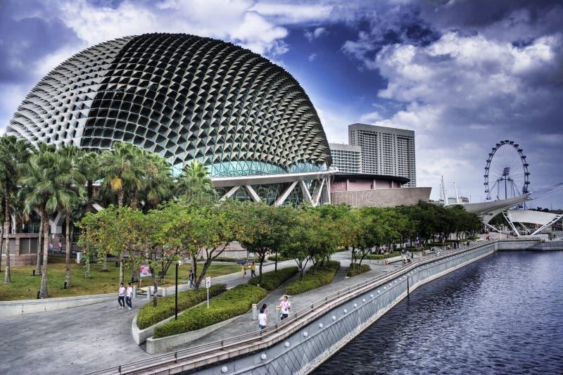 Singapore Esplanade Theater Editorial Photography