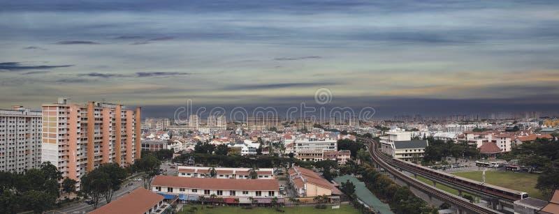 Singapore Eunos Housing Estate Panorama Stock Image