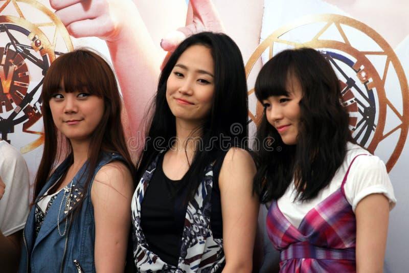 singapore för 3 flickor under arkivbild