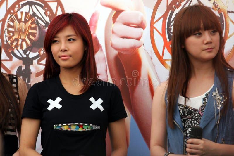 singapore för 4 flickor under royaltyfri foto