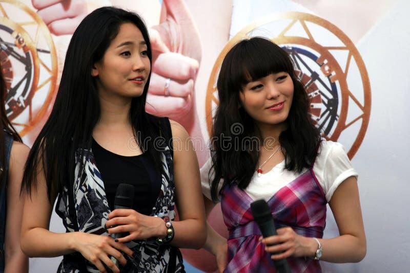 singapore för 6 flickor under royaltyfri fotografi
