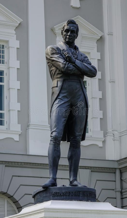 Statue of Sir Stamford Raffles stock photos