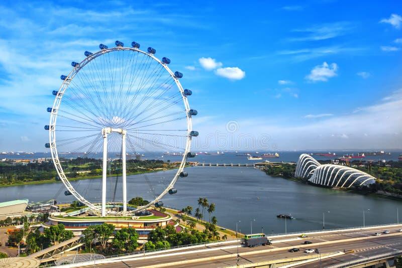 Singapore Ferris Wheel royalty-vrije stock afbeeldingen