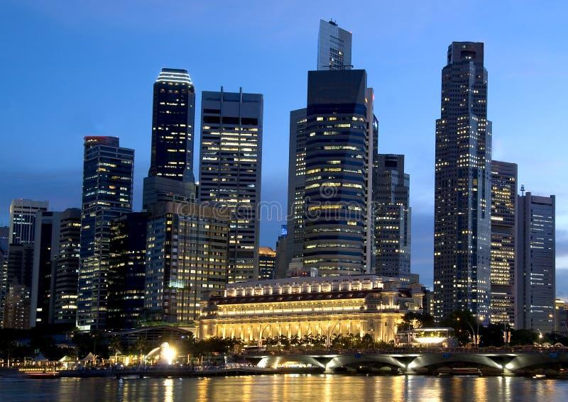 singapore financial district royalty free stock photo