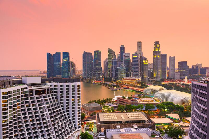 Singapore Financial District Skyline royalty free stock image