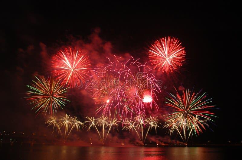 Singapore Fireworks Festival 2006 royalty free stock photos