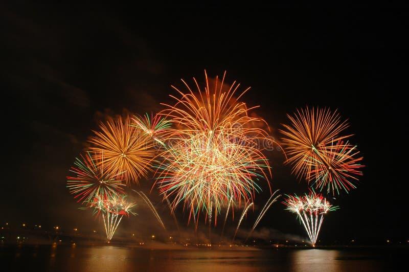 Singapore Fireworks Festival 2006 stock photos