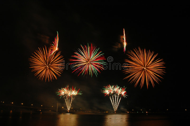 Singapore Fireworks Festival 2006 Stock Images