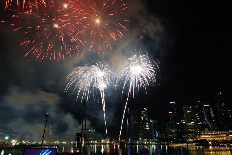 Singapore Fireworks Festival Celebration Editorial Stock Photo