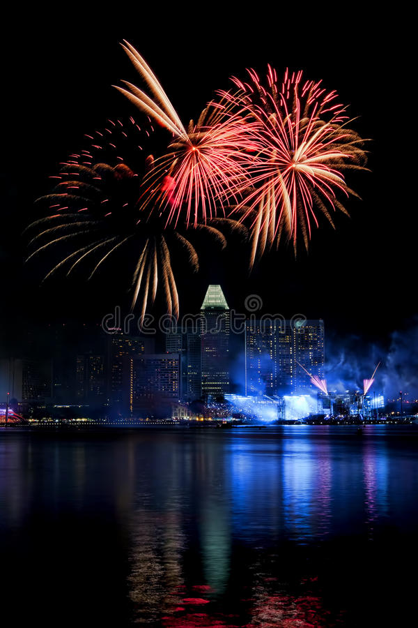 Download Singapore Fireworks stock photo. Image of holiday, colors - 33695282