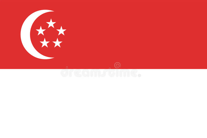 Singapore flag vector illustration