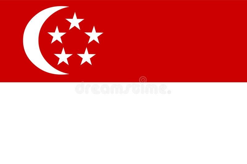 Singapore flag vector.Illustartion of Singapore flag vector illustration