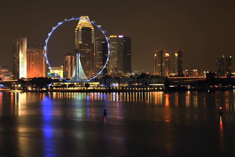 Download Singapore flyer stock image. Image of illuminated, night - 17349389