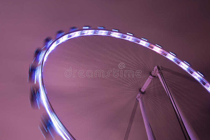 Singapore Flyer. A shot of the Singapore Flyer Wheel in motion stock photo