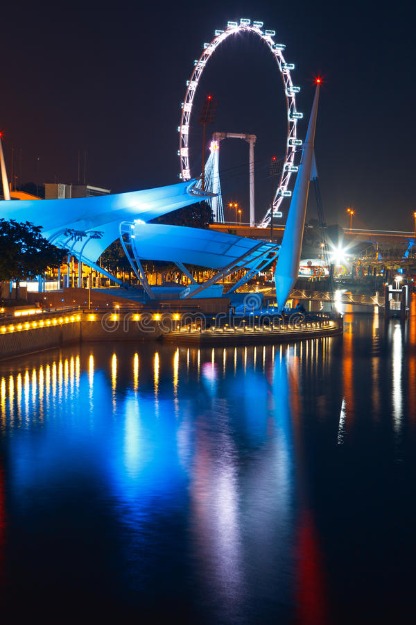 Singapore flyer. Is one of the largest in the world royalty free stock images