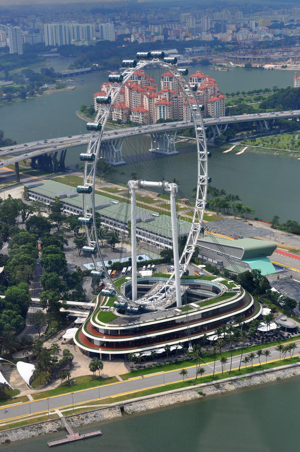 Singapore Flyer. The Singapore Flyer, Giant wheel, the world biggest Marry Go Round located in Singapore royalty free stock photos