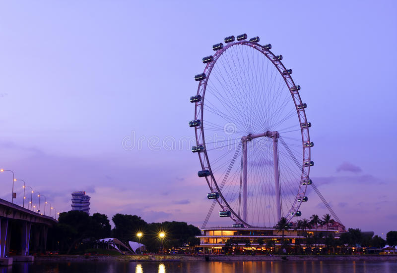 Singapore Flyer. The Singapore Flyer is a giant Ferris wheel located in Singapore, constructed in 2005–2008. Described by its operators as an observation royalty free stock images