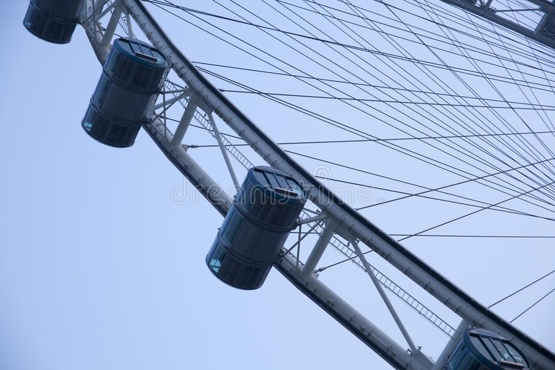 Singapore flyer. The Singapore flyer in Singapore royalty free stock photography