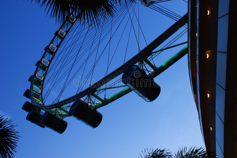 Singapore Flyer. Currently the largest observation wheel in the world stock photos