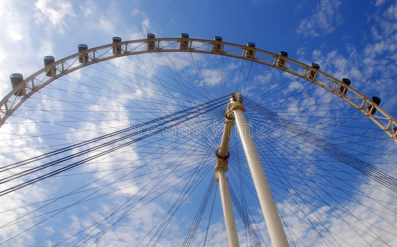The Singapore Flyer. View of the Singapore flyer- world's highest wheel - view point royalty free stock photography
