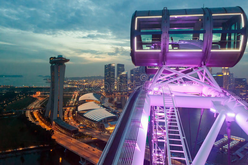 Singapore Flyer. Cityscape view from Singapore Flyer stock image