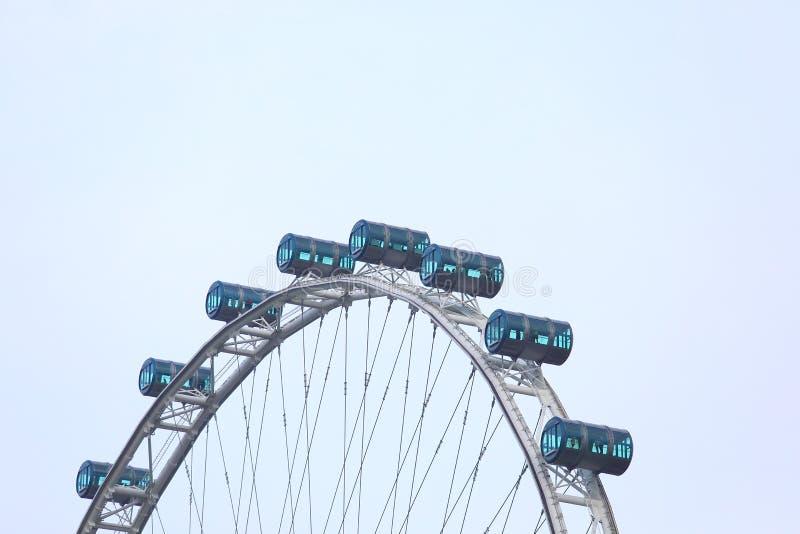 Singapore flyer ferris wheel. In Singapore royalty free stock image