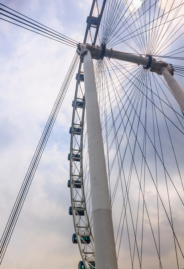Singapore flyer. The Singapore Flyer is a giant Ferris wheel in Singapore stock photo