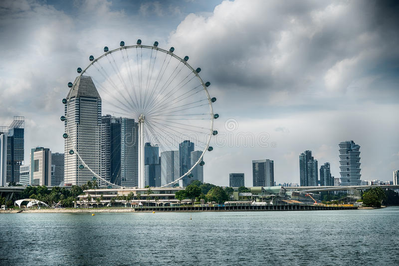 Singapore Flyer the giant ferris wheel in Singapore royalty free stock image