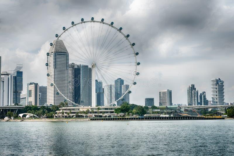 Singapore Flyer the giant ferris wheel in Singapore.  royalty free stock image