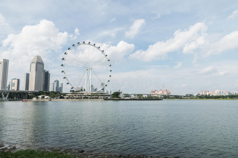 Singapore Flyer the giant ferris wheel in Singapore.  stock photography