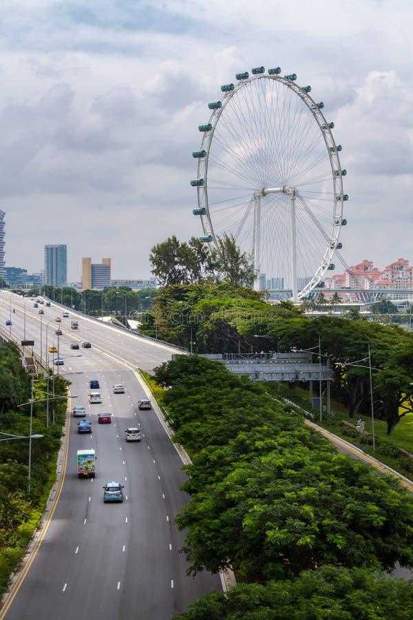 Singapore Flyer stock photography