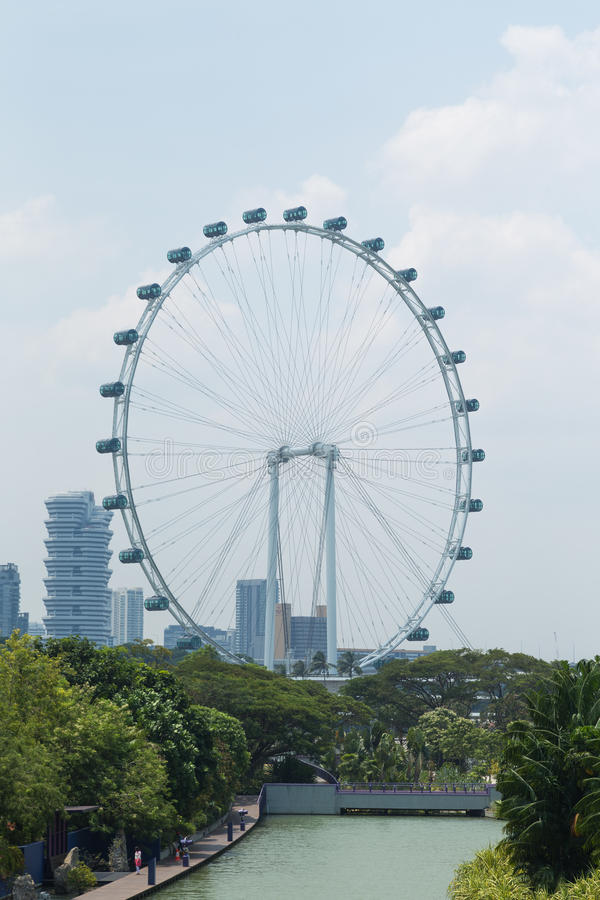 Singapore Flyer. The Largest Ferris Wheel in the World stock photo