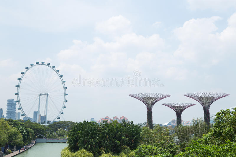 Singapore Flyer. The Largest Ferris Wheel in the World stock image