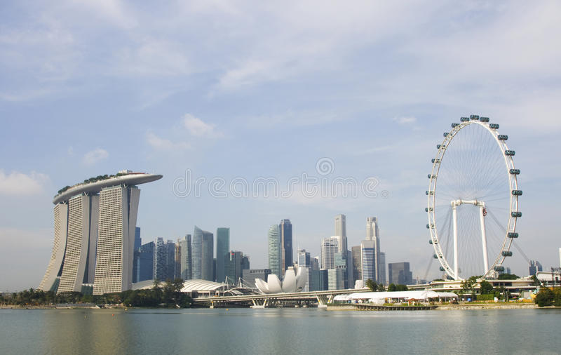 Singapore Flyer and Marina Bay. Sands, Singapore stock images