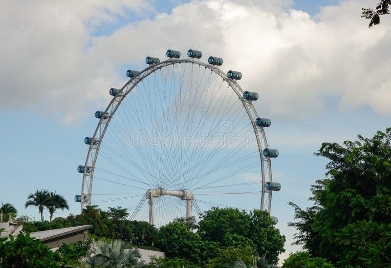 Singapore Flyer. At Marina Bays in Singapore stock photography