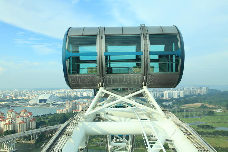 Singapore flyer. Part of Singapore flyer with city view stock images