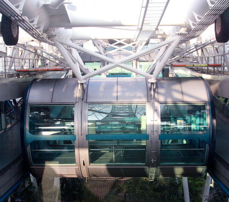 Singapore Flyer vessel. Or cabin that will carry the passengers in the flyer royalty free stock photography