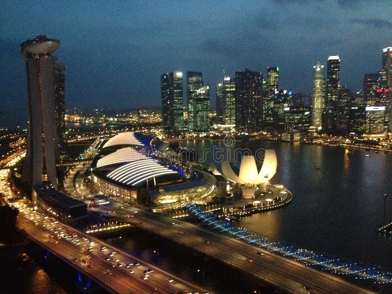 Singapore Flyer. View from top royalty free stock images