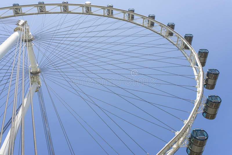 Singapore Flyer. The world tallest ferris of Singapore flyer royalty free stock image