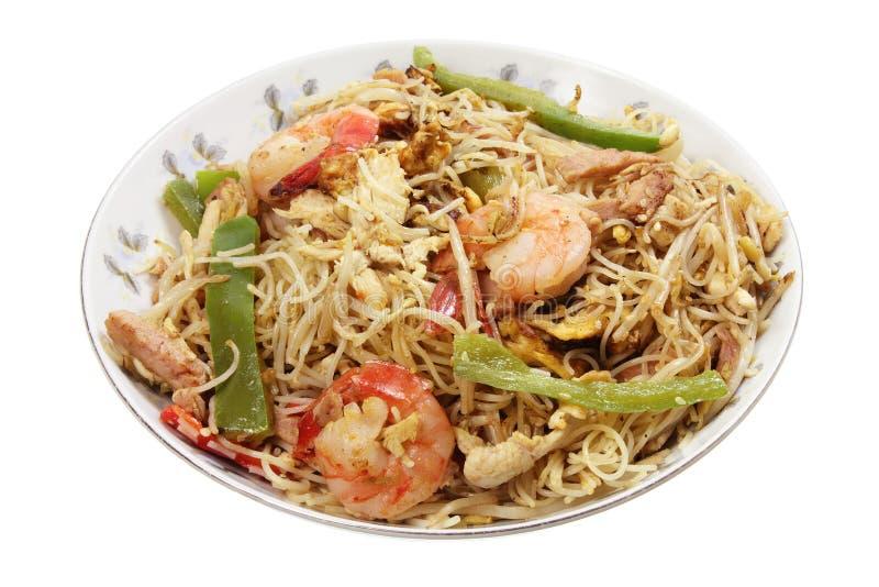 Singapore Fried Noodle arkivfoto