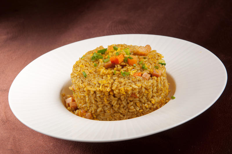 Singapore fried rice. Chinese cuisine stock photos