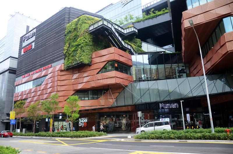 Singapore FUNAN digital product shopping mall with new facade view royalty free stock images