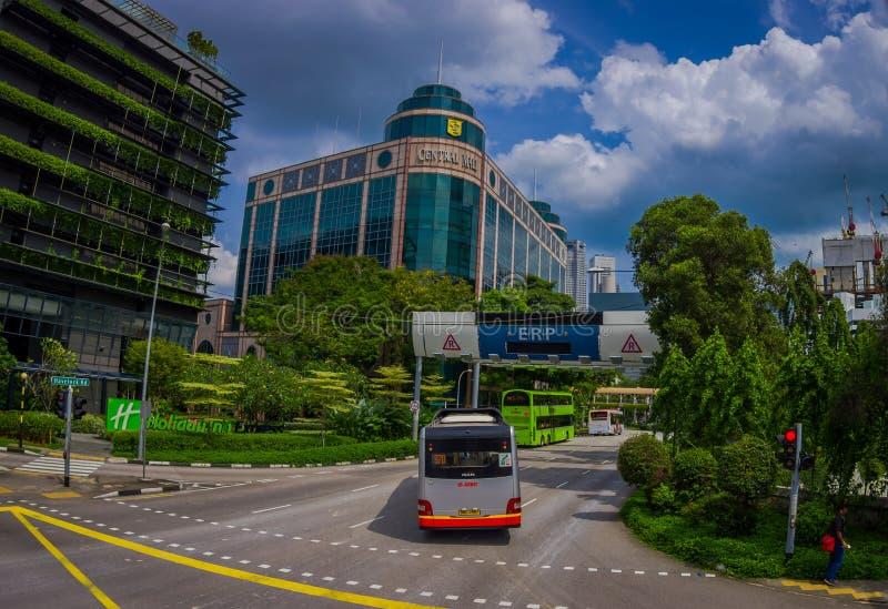 SINGAPORE, SINGAPORE - 30 GENNAIO 2018: Vista all'aperto del complesso e del Holiday Inn di costruzione centrali del centro comme fotografie stock libere da diritti