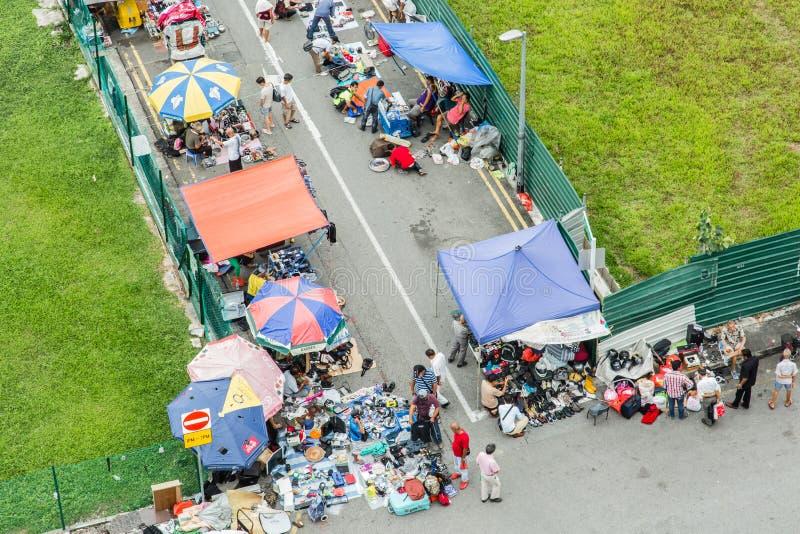 SINGAPORE 24 GIUGNO 2017: mercato dei ladri della strada di Sungei del mercato di strada immagine stock